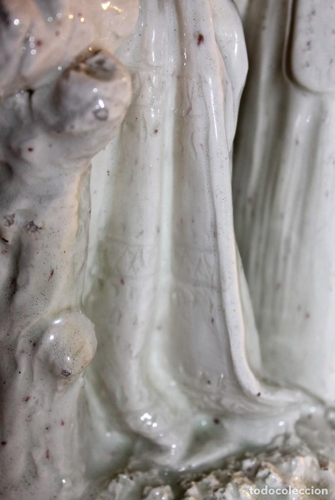 Antigüedades: PAREJA DE VALENCIANOS EN LOZA VIDRIADA DE PRINCIPIOS DEL SIGLO XX - POSIBLEMENTE DE PEYRO - Foto 8 - 128743399