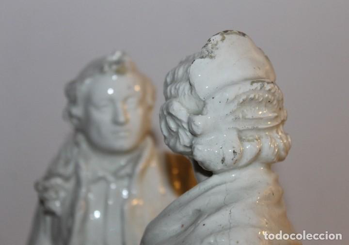 Antigüedades: PAREJA DE VALENCIANOS EN LOZA VIDRIADA DE PRINCIPIOS DEL SIGLO XX - POSIBLEMENTE DE PEYRO - Foto 10 - 128743399
