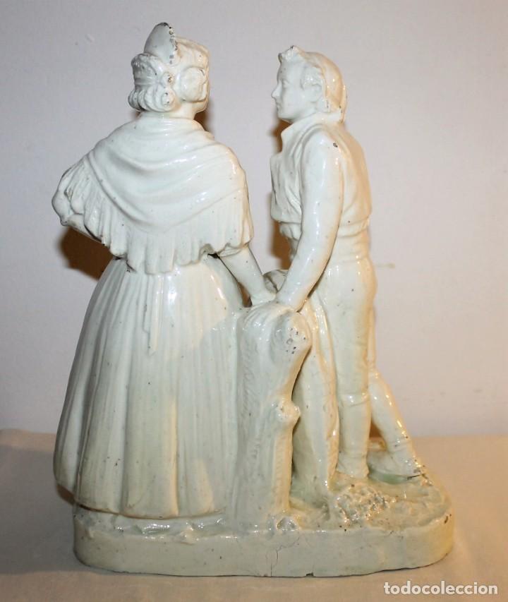 Antigüedades: PAREJA DE VALENCIANOS EN LOZA VIDRIADA DE PRINCIPIOS DEL SIGLO XX - POSIBLEMENTE DE PEYRO - Foto 11 - 128743399