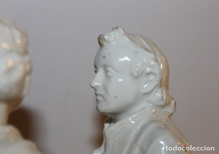 Antigüedades: PAREJA DE VALENCIANOS EN LOZA VIDRIADA DE PRINCIPIOS DEL SIGLO XX - POSIBLEMENTE DE PEYRO - Foto 13 - 128743399