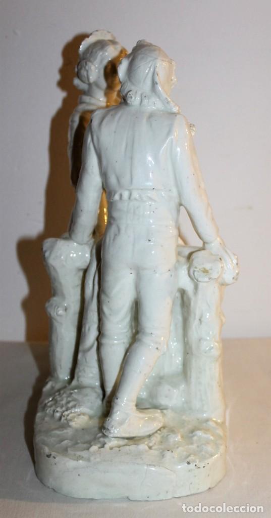 Antigüedades: PAREJA DE VALENCIANOS EN LOZA VIDRIADA DE PRINCIPIOS DEL SIGLO XX - POSIBLEMENTE DE PEYRO - Foto 16 - 128743399