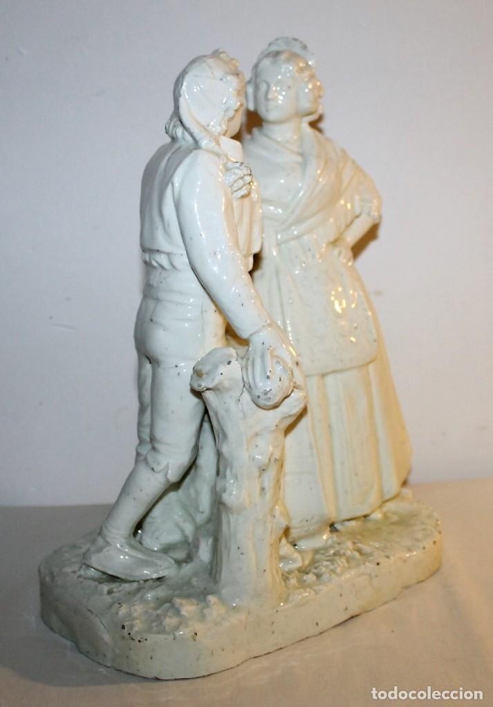 Antigüedades: PAREJA DE VALENCIANOS EN LOZA VIDRIADA DE PRINCIPIOS DEL SIGLO XX - POSIBLEMENTE DE PEYRO - Foto 18 - 128743399