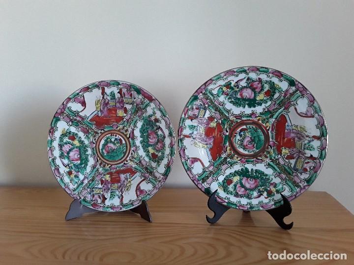 DOS PLATOS PORCELANA CHINA (Antigüedades - Porcelanas y Cerámicas - China)