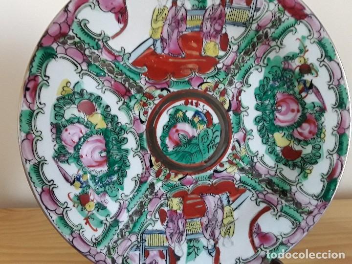 Antigüedades: Dos platos porcelana china - Foto 2 - 128750955