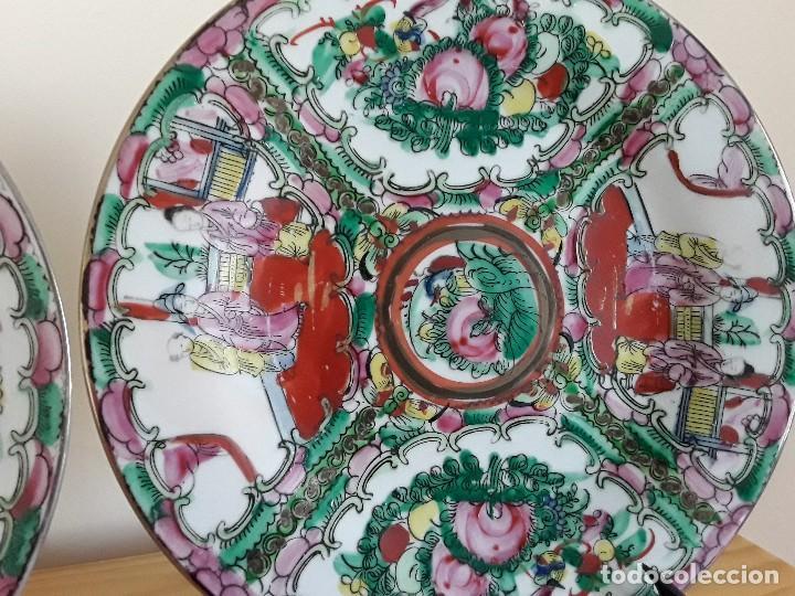Antigüedades: Dos platos porcelana china - Foto 3 - 128750955
