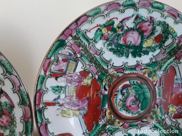 Antigüedades: Dos platos porcelana china - Foto 5 - 128750955
