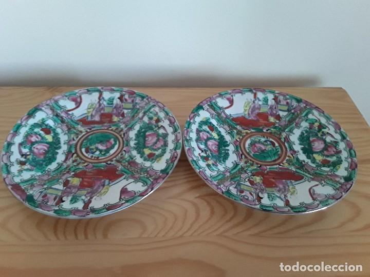 Antigüedades: Dos platos porcelana china - Foto 9 - 128750955
