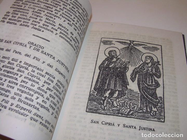 Antigüedades: ANTIGUA Y BONITA CRUZ DE CARAVACA CON LIBRO DE EXORCISMOS Y BENDICIONES. - Foto 8 - 128767015