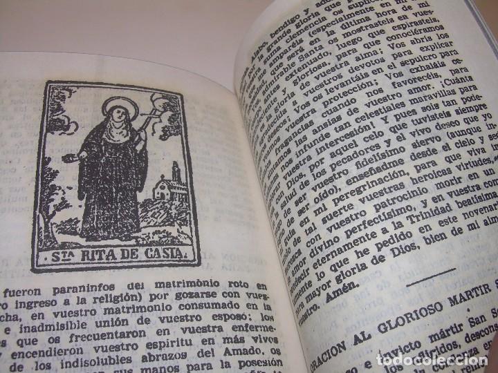 Antigüedades: ANTIGUA Y BONITA CRUZ DE CARAVACA CON LIBRO DE EXORCISMOS Y BENDICIONES. - Foto 19 - 128767015