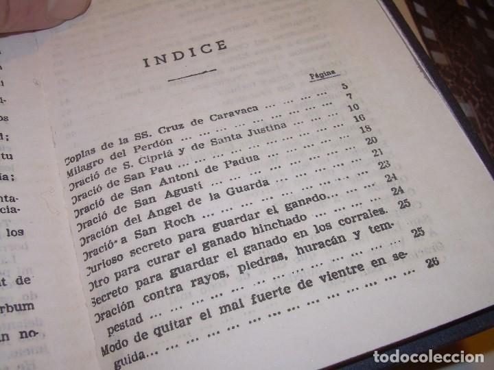 Antigüedades: ANTIGUA Y BONITA CRUZ DE CARAVACA CON LIBRO DE EXORCISMOS Y BENDICIONES. - Foto 26 - 128767015