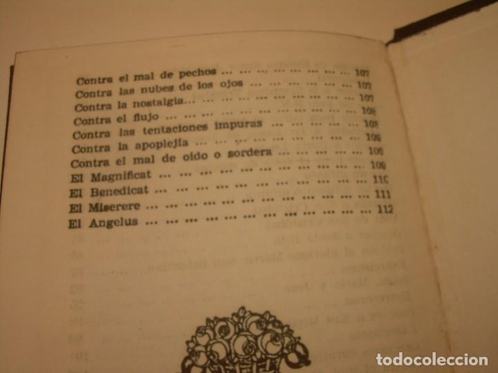 Antigüedades: ANTIGUA Y BONITA CRUZ DE CARAVACA CON LIBRO DE EXORCISMOS Y BENDICIONES. - Foto 28 - 128767015