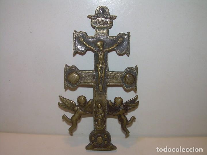 Antigüedades: ANTIGUA Y BONITA CRUZ DE CARAVACA CON LIBRO DE EXORCISMOS Y BENDICIONES. - Foto 32 - 128767015