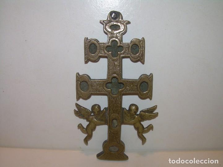 Antigüedades: ANTIGUA Y BONITA CRUZ DE CARAVACA CON LIBRO DE EXORCISMOS Y BENDICIONES. - Foto 33 - 128767015