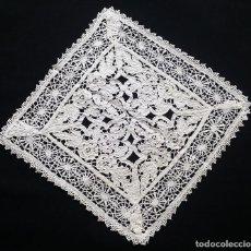 Antigüedades: ANTIGUO TAPETE BORDADO - DE COLECCIÓN. Lote 128771423