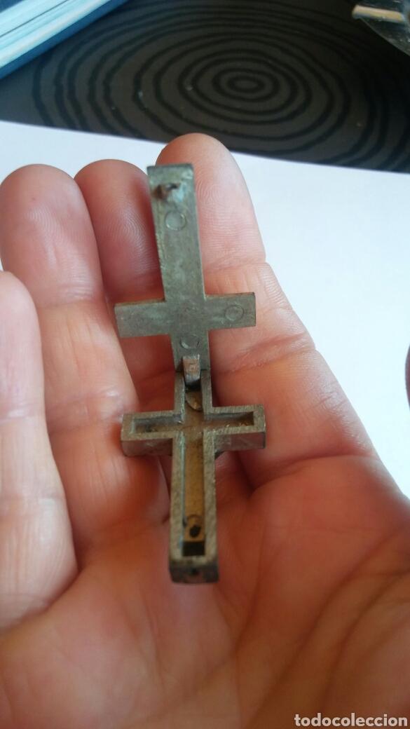 Antigüedades: ANTIGUO RELICARIO CRUZ ROMA - Foto 10 - 128775204