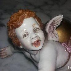 Antigüedades: ANGELITO ANGEL CON BOLA 18 V 9 CNTS QUERUBIN ALGORA. Lote 128776139