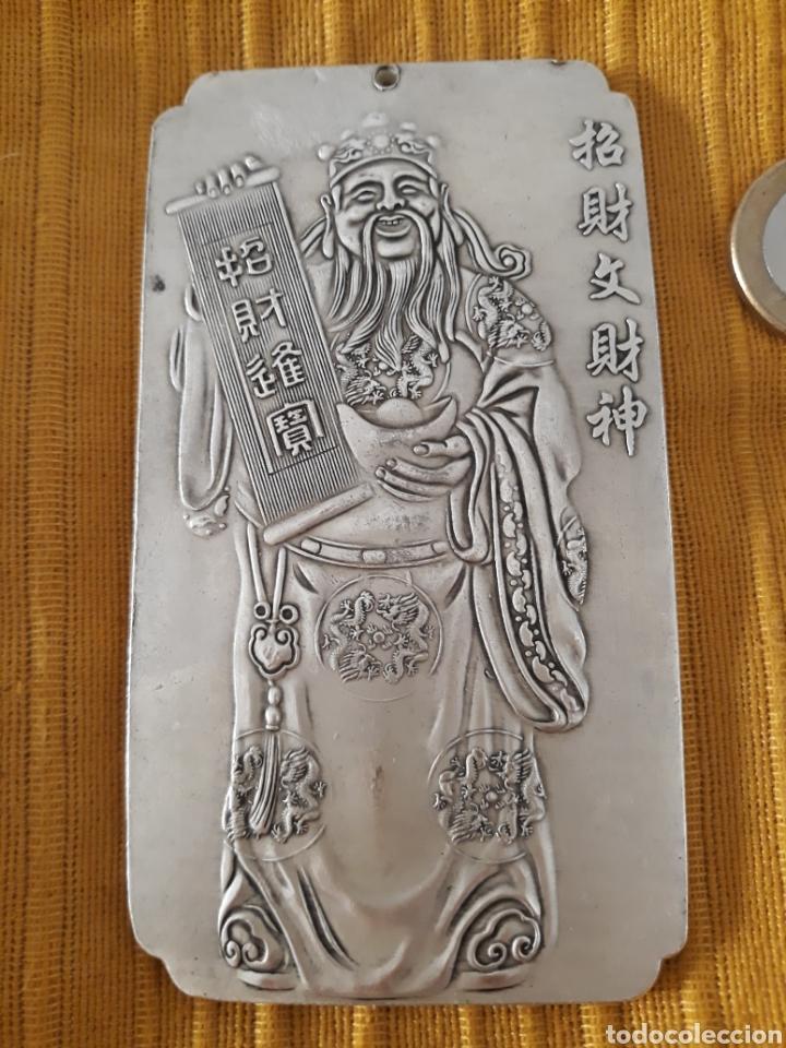 ANTIGUO LINGOTE PLATA TIBETANA (Antigüedades - Plateria - Varios)