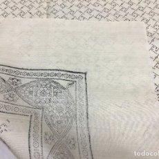 Antigüedades: ANTIGUO PAÑUELO DE SEDA ESTAMPADO. Lote 128786003