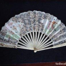 Antigüedades: BONITO ABANICO S. XIX. Lote 128796707