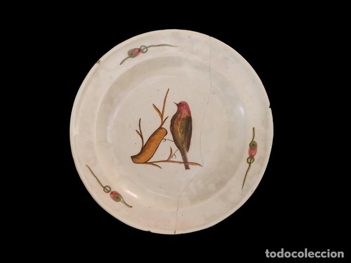 ANTIQUÍSIMO PLATO, CATALÁN O MANISES, LAÑADO, 35 CM , FINALES DEL S. XIX (Antigüedades - Porcelanas y Cerámicas - Manises)