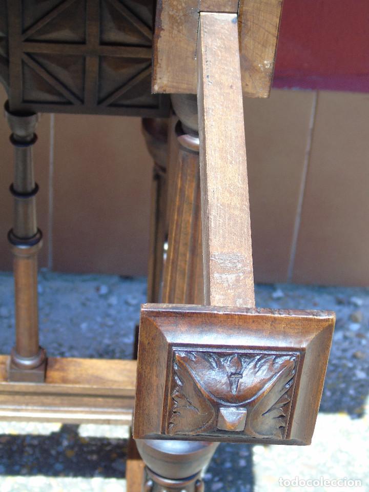 Antigüedades: ANTIGUO BARGUEÑO CON PIES, DE NOGAL Y HERRAJES. PRINCIPIO SG XX - Foto 27 - 128849635