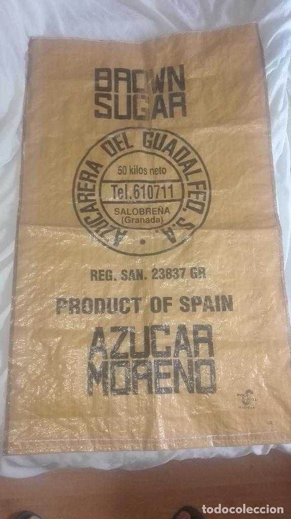SACO AZÚCAR.AZUCARERA DEL GUADALFEO.SALOBREÑA.AÑOS 70-80 (Antigüedades - Técnicas - Rústicas - Agricultura)
