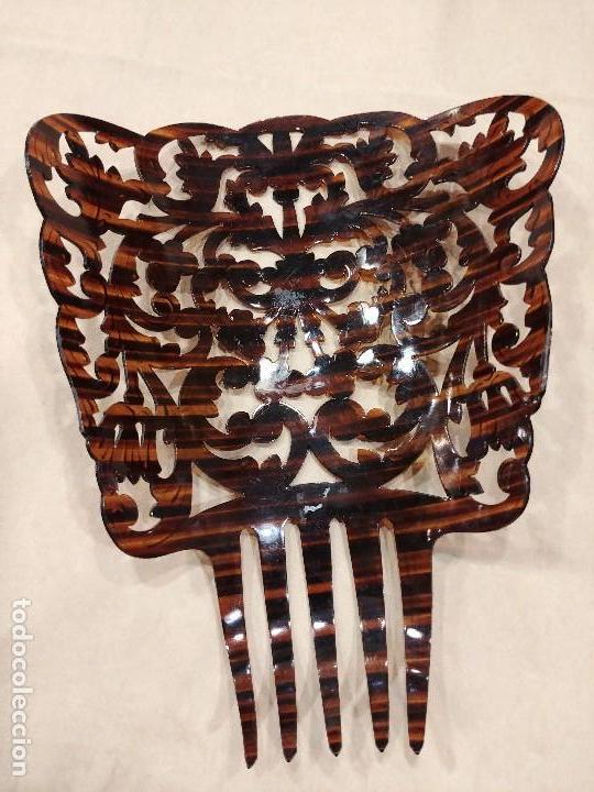 Antigüedades: PEINETA DE GRAN TAMAÑO - Foto 2 - 128874039