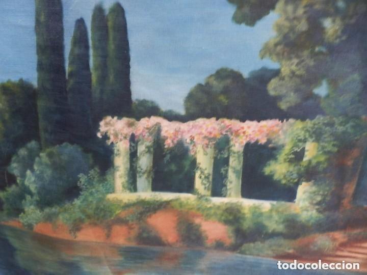 Antigüedades: GRAN TAPIZ pintado a mano fines s XIX a pps s XX - Foto 6 - 128887083