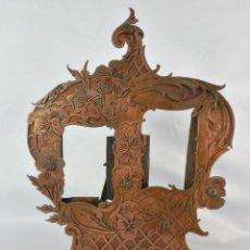 Antigüedades: MARAVILLOSO MARCO DE ALEACIÓN Y COBRE S XIX ART NOUVEAU DE ÉPOCA. S XIX.. Lote 128889195