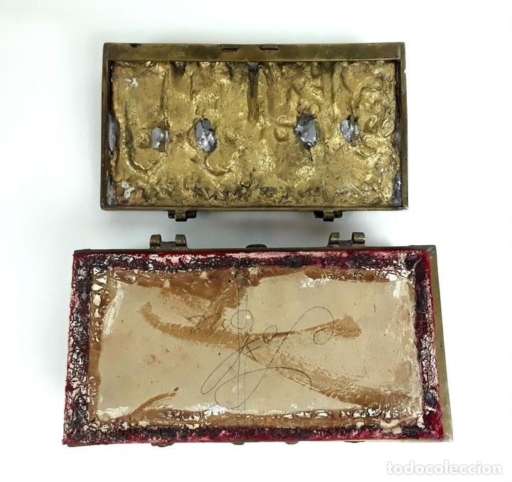 Antiquitäten: COFRE DE BRONCE. OLIVELLA HERMANOS. BARCELONA. SIGLO XIX-XX. - Foto 6 - 155818070