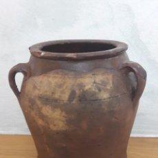 Antigüedades: ORZA TABAQUERA EN CERÁMICA CATALANA SANT JULIÁ DE VILATORTA. Lote 128890411