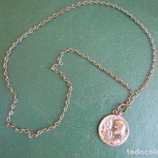 Antigüedades: MEDALLA Y CADENA EXAMEN 1909. Lote 128890939