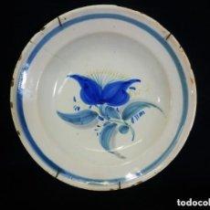 Antigüedades: PLATO ESPAÑOL CERÁMICA DECORADA - SXVIII-XIX. Lote 128895771