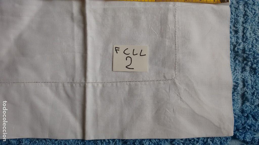 Antigüedades: Antigua funda de hilo para cuadrante de cama. ( FCLL-2 ) - Foto 4 - 128895919