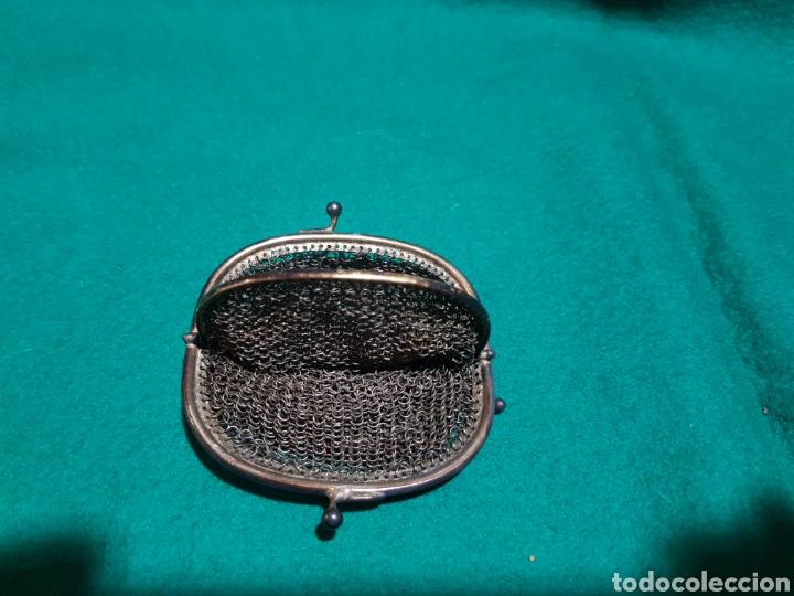 Antigüedades: Antiguo monedero de malla metálica - Foto 2 - 128902875