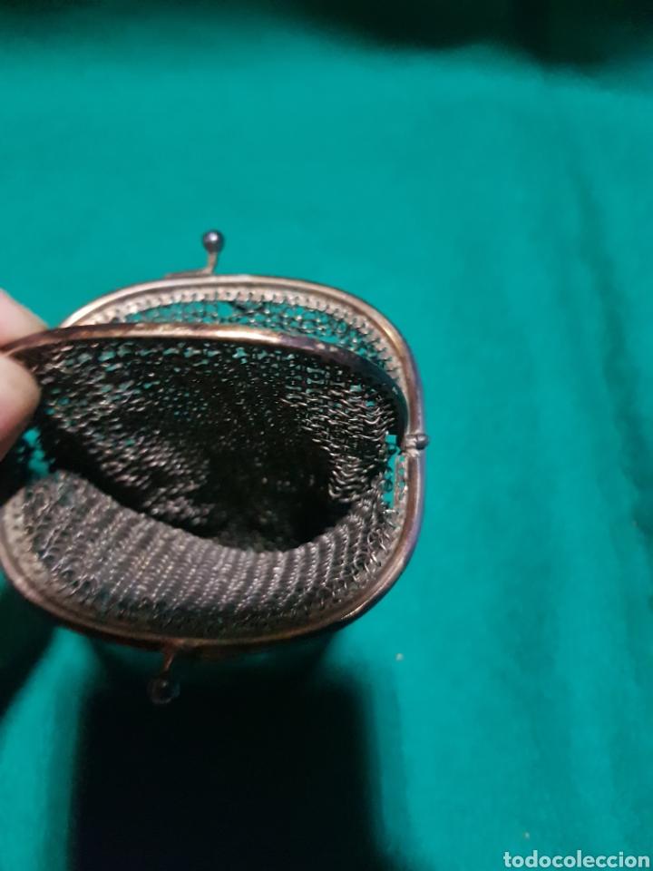 Antigüedades: Antiguo monedero de malla metálica - Foto 3 - 128902875