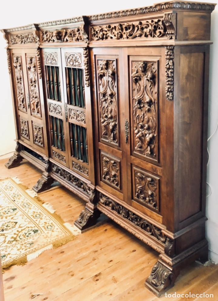 DESPACHO COMPLETO ESTILO RENACIMIENTO (Antigüedades - Muebles Antiguos - Mesas de Despacho Antiguos)