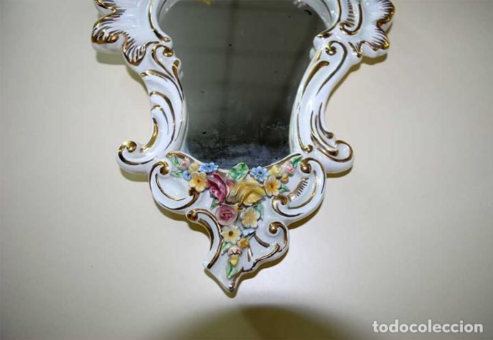 Antigüedades: ESPEJO ANTIGUO LUIS XV PORCELANA ESMALTADA - Foto 3 - 128914315