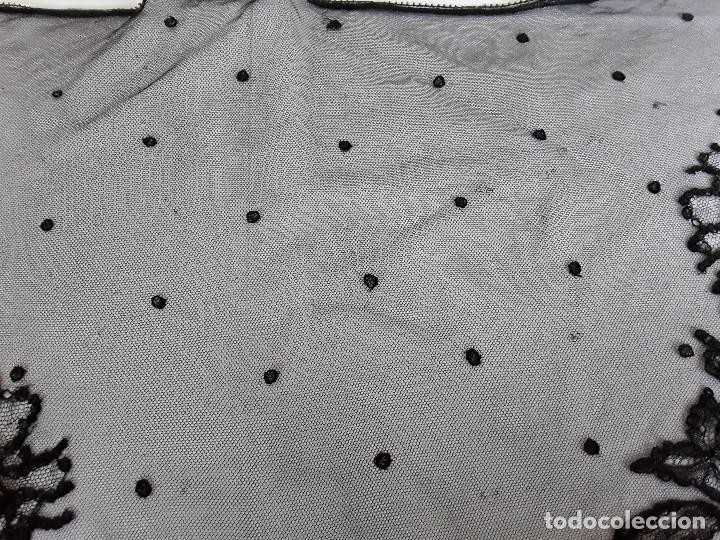 Antigüedades: Velo de misa negro - Foto 4 - 128922455