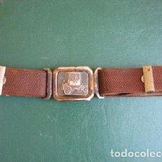 Antiquités: CINTURÓN NIÑO HEBILLA COCHE FORD. Lote 128923543