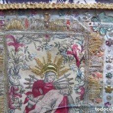Antigüedades: LIBRERIA GHOTICA.EXCELENTE EXVOTO DEL S. XVIII DE LA VIRGEN DE LOS DOLORES.FILIGRANA EN PLATA Y TELA. Lote 128953183