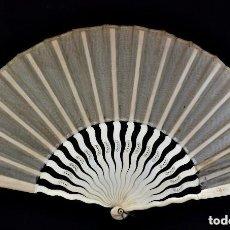 Antigüedades: ABANICO DE NOVIA EN MARFIL AÑOS 1900. Lote 128963875