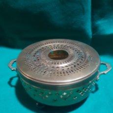 Antigüedades: ANTIGUO CALENTADOR EN BRONCE. Lote 128977187