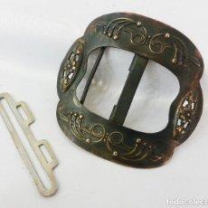 Antigüedades: PRECIOSA HEBILLA MODERNISTA DE ÉPOCA S XIX. Lote 128978591