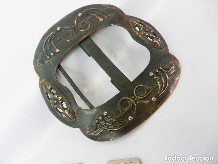 Antigüedades: Preciosa hebilla modernista de época s XIX - Foto 2 - 128978591