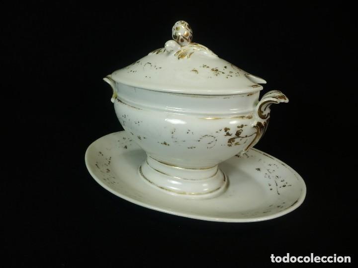 SALSERA UNA PIEZA DE PORCELANA VIEJO PARIS S XIX (Antigüedades - Porcelana y Cerámica - Francesa - Limoges)