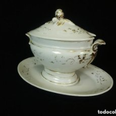 Antigüedades: SALSERA UNA PIEZA DE PORCELANA VIEJO PARIS S XIX. Lote 128984979