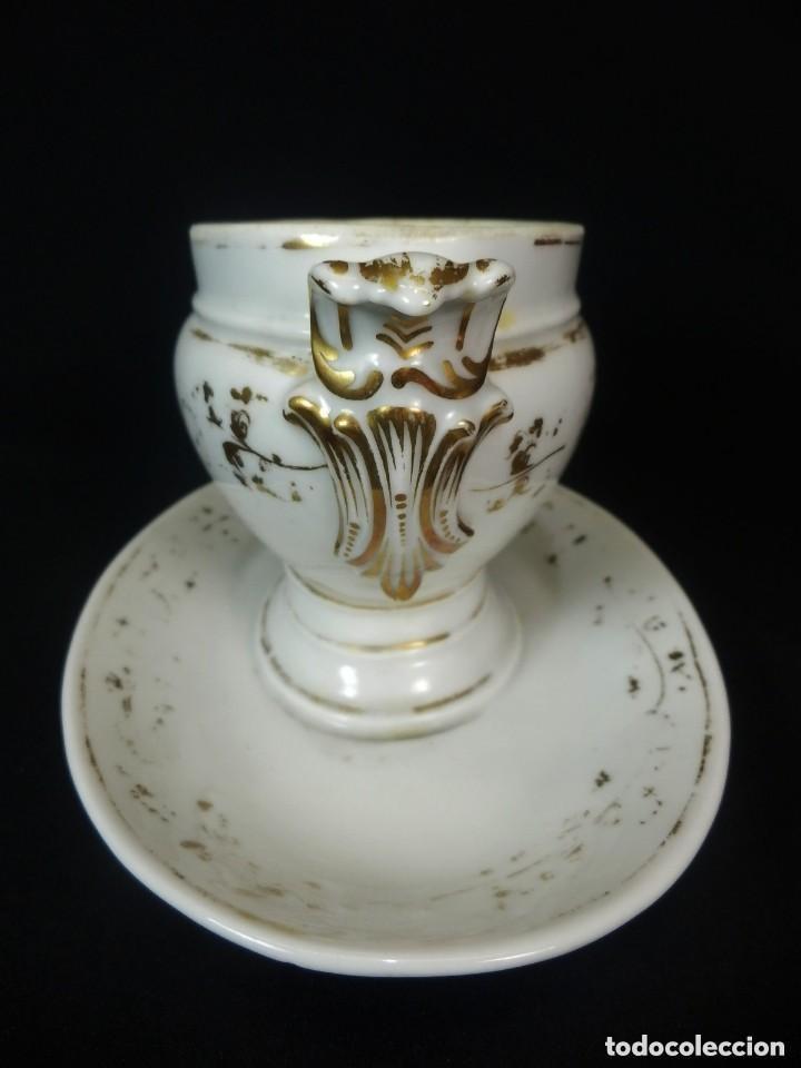 Antigüedades: Salsera una pieza de porcelana Viejo Paris s XIX - Foto 3 - 128984979