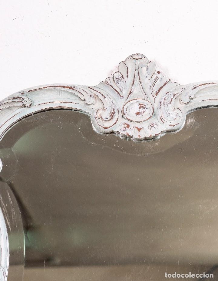 Antigüedades: Consola y Espejo Antiguo Restaurado Loaira - Foto 5 - 128997211