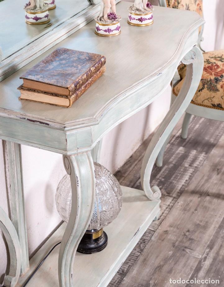 Antigüedades: Consola y Espejo Antiguo Restaurado Loaira - Foto 3 - 128997211